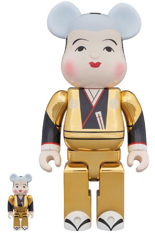 Bearbrick — Fukuske Gold 100% & 400%