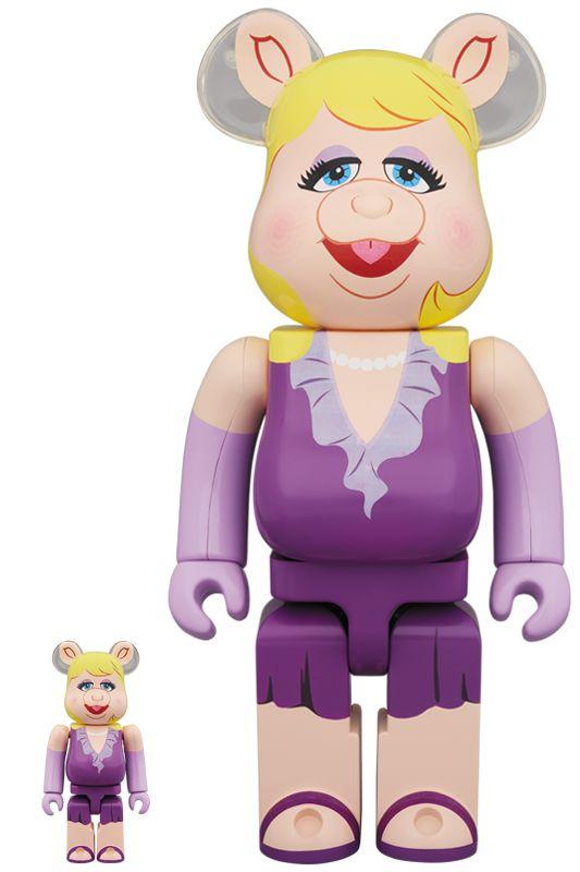 Bearbrick — Miss Piggy 100% & 400%