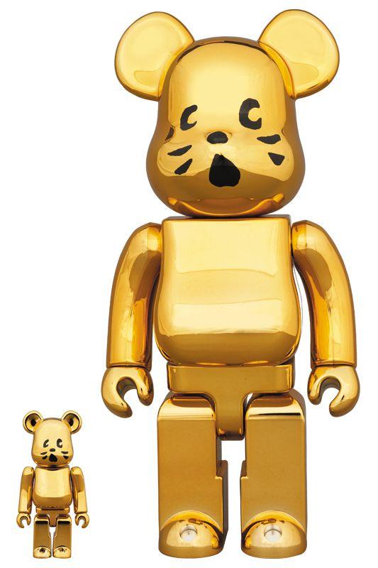 Bearbrick — NYA gold VER. 100% & 400%