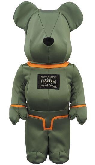 Bearbrick — PORTER 400% TANKER SAGE GREEN Special Edition
