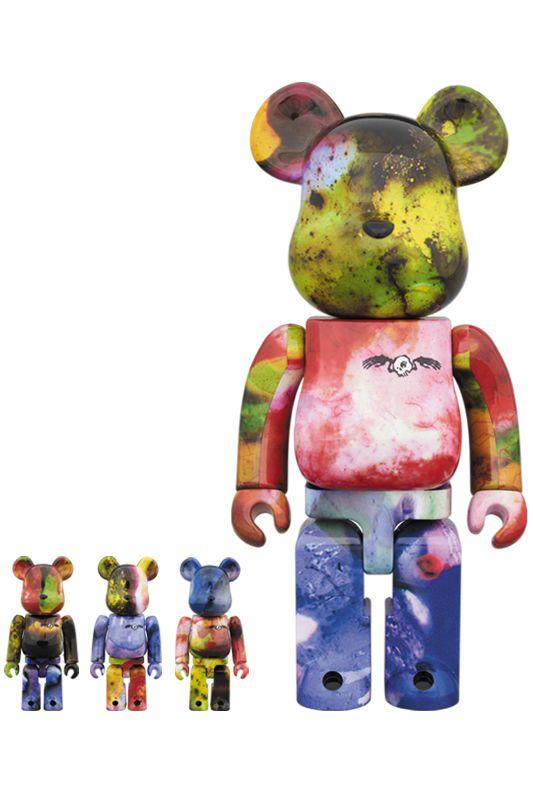 Bearbrick — PUSHEAD 3 different colors 100% & 400% 4 PC SET