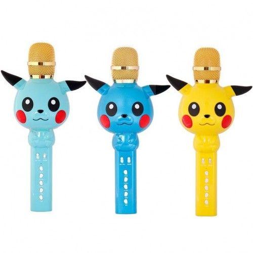 Беспроводной микрофон в дизайне Покемона Пикачу Karaoke Microphone KT03