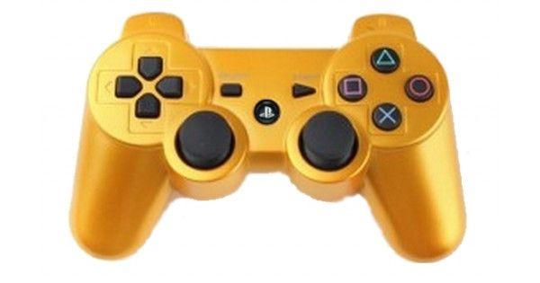 Джойстик беспроводной Controller Wireless Dual Shock 3 Gold (Золотой) (PS3)