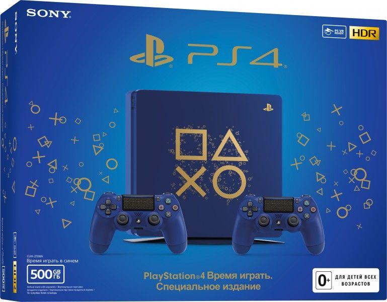 Игровая консоль Sony PlayStation 4. Специальное издание «Время играть» (500GB) + геймпад DualShock v2