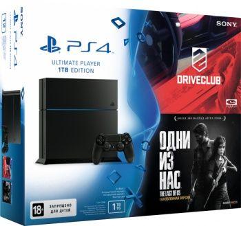 Sony PlayStation 4 1Tb + Driver club + The Last of us