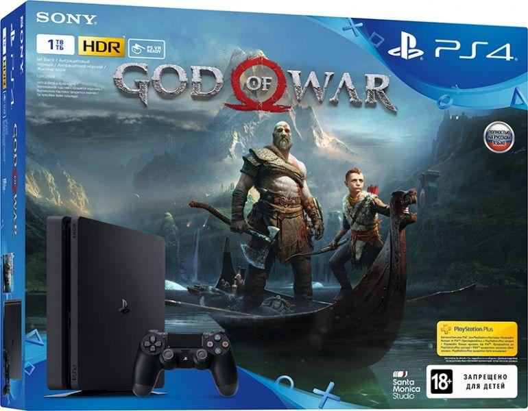 Sony PlayStation 4 1TB Slim (CUH-2108B) + игра God of War