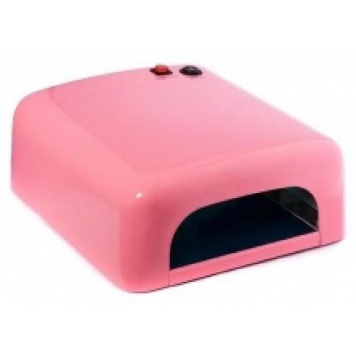 УФ-лампа для ногтей (большая розовая) 36W MO-1305