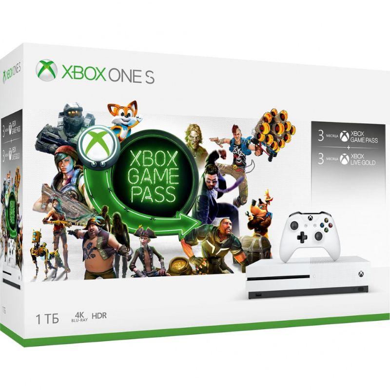 Игровая консоль Xbox One S 1 TB + Xbox Game Pass на 3 месяца + Подписка Xbox Live Gold на 3 месяца