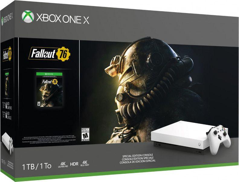 Игровая консоль Xbox One X 1 TB (белая) + игра Fallout 76