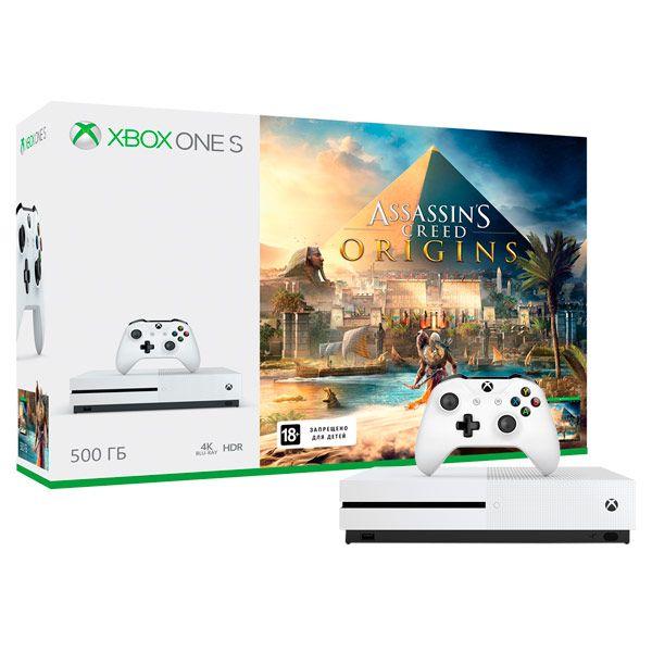 Xbox One S 500 ГБ + Assassin