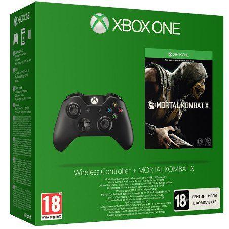 Беспроводной геймпад для Xbox One + игра Mortal Kombat X