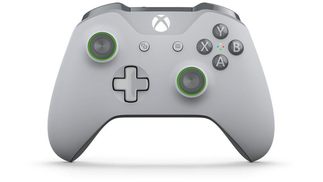Xbox One Беспроводной геймпад  Gray/Green