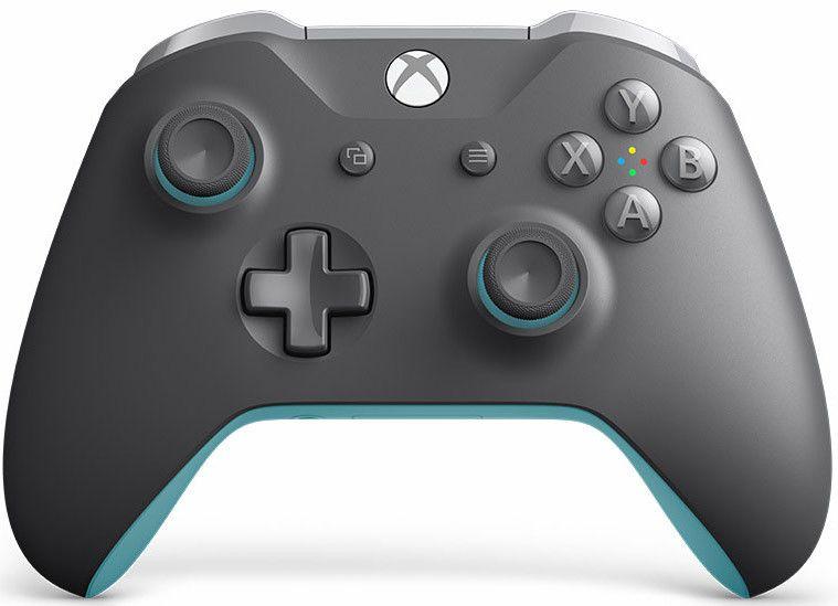 Xbox One Беспроводной геймпад Grey/Blue+14 дн.Game Pass+14 дн.Xbox Live Gold