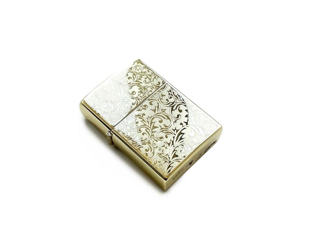 Электроимпульсная зажигалка USB Lighter Barocco Gold