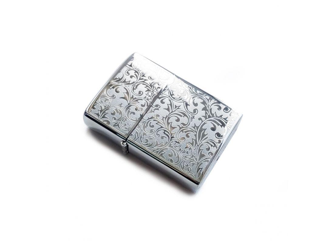 Электроимпульсная зажигалка USB Lighter Barocco Silver
