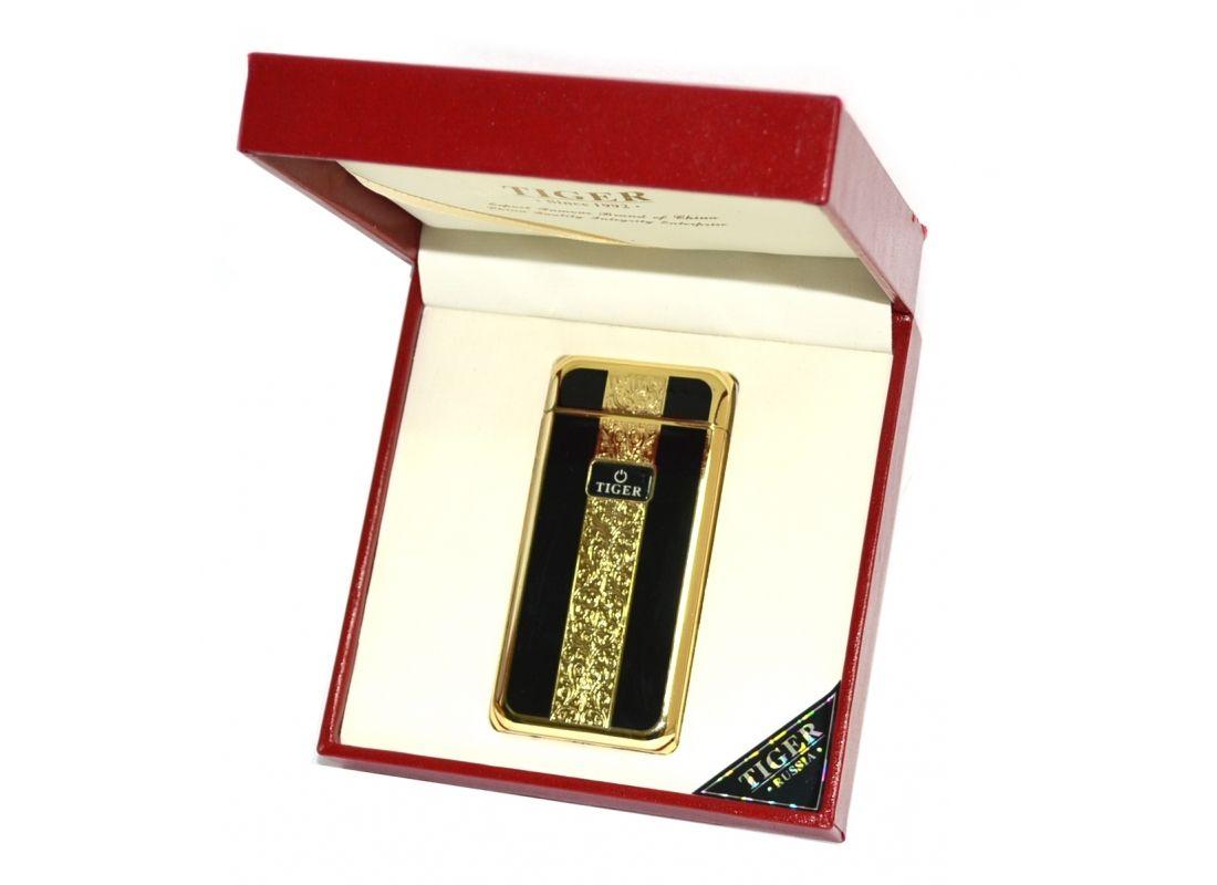 Электроимпульсная зажигалка USB Tiger Gold