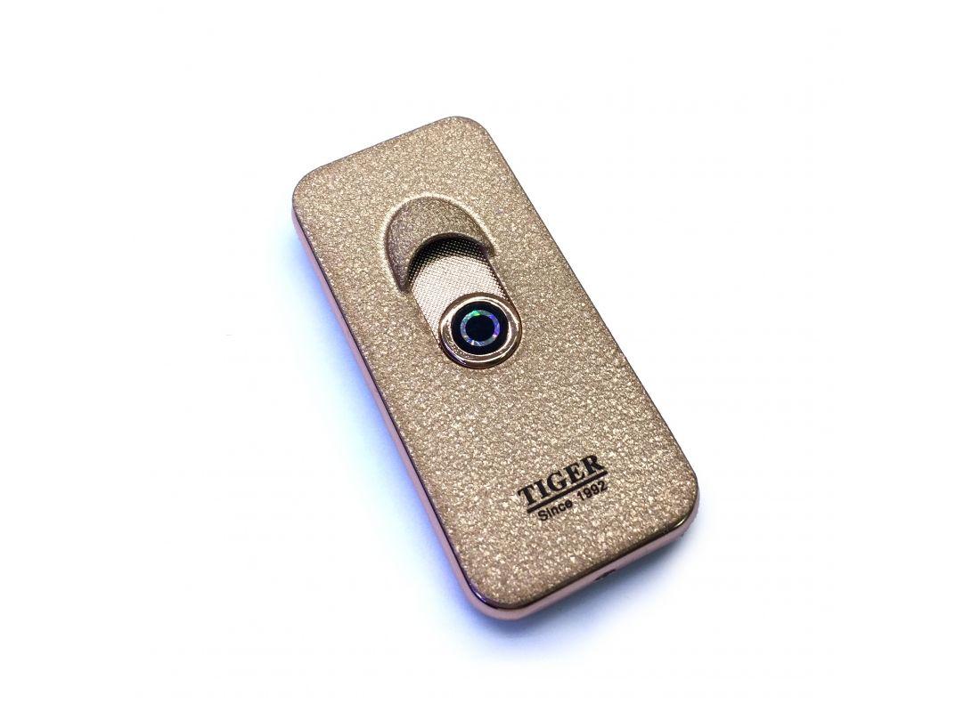 Спиральная зажигалка-спиннер USB Tiger Gold