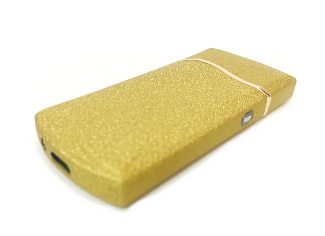 Спиральная зажигалка USB Flamingo Gold со сменной спиралью, купить в спб, недорого, подарок