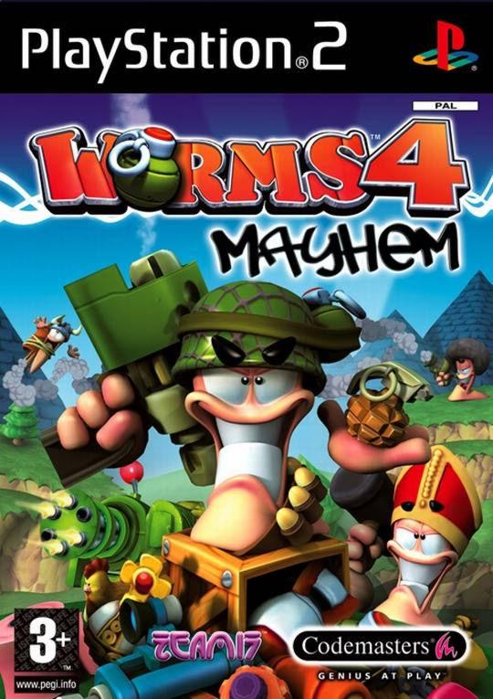 PS2  Worms 4: Mayhem