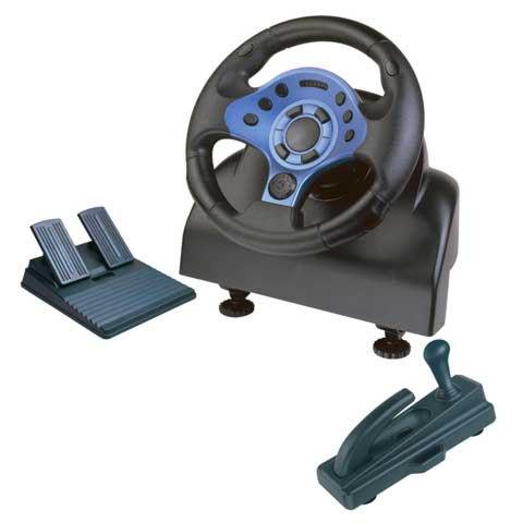 PS 2 руль Steer.Wheel PS2/PC/XB/GC WD184 Turbo Runner