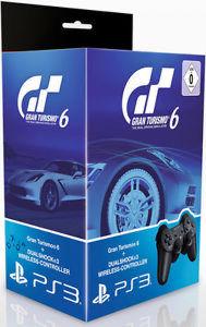 PS 3 Джойстик Dual Shock Black Original + игра «Gran Turismo 6» (с поддержкой 3D, русская версия)