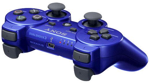 PS 3 Джойстик Dual Shock Blue Original  (картонная коробка)