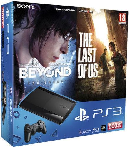 PlayStation 3  500 GB Premium +»За гранью: Две души»+»Один из нас»