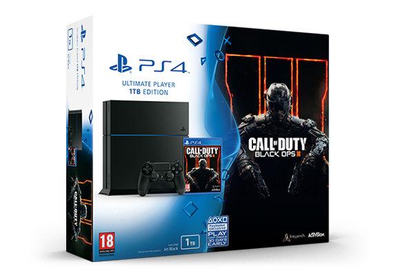 PlayStation 4 1TB матовая черная+ Call of Duty:Black OPS 3
