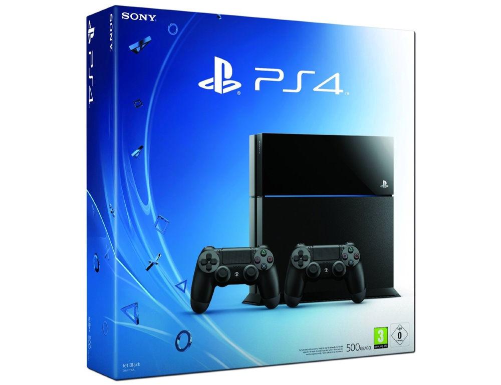 PlayStation 4 500 Gb черная матовая + контроллер