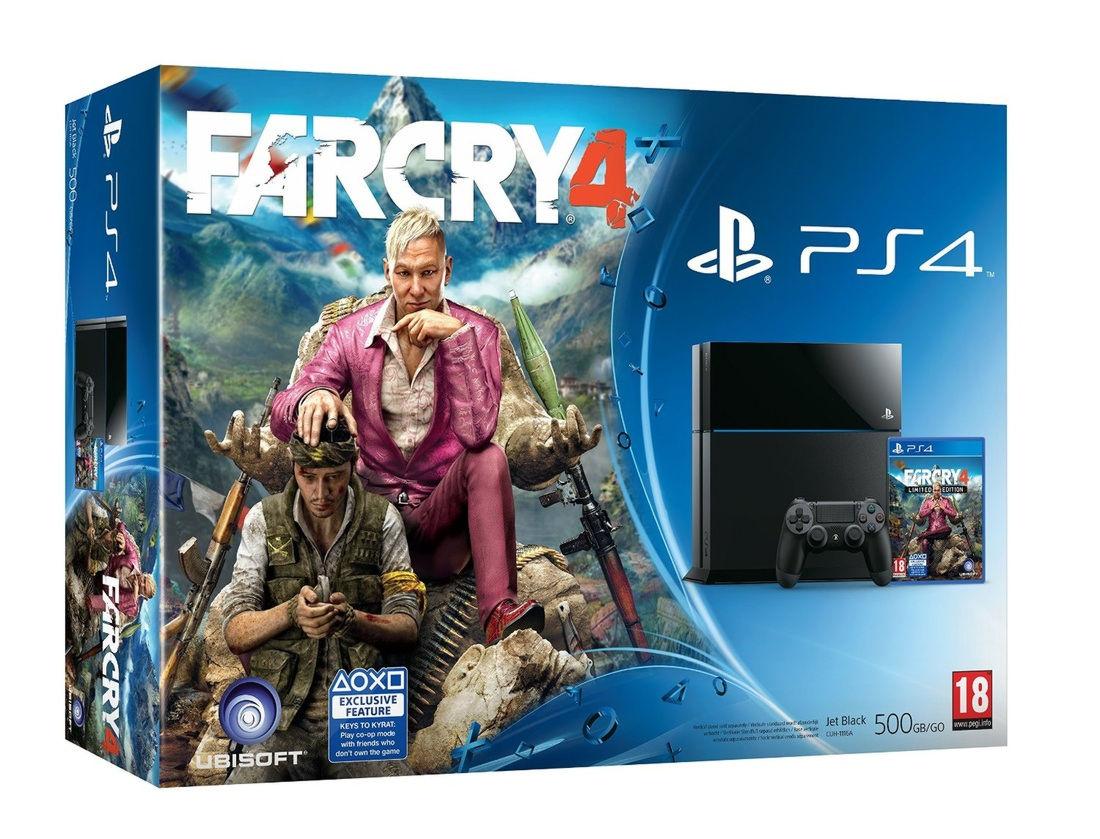 PlayStation 4 500 Gb (CUH-1108A) + игра «Far Cry 4»