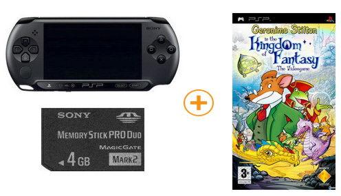 Playstation PSP — E1008CB Street + игра Geronimo Приключения Мышон+ Memory Stick PRO Duo 4GB