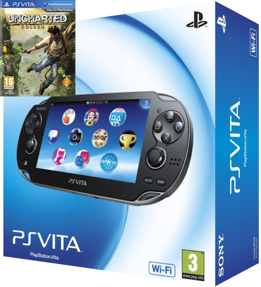 Playstation PS Vita Wi-Fi Black Rus (PCH-1008ZA01)+Uncharted Золотая бездна (русская версия)