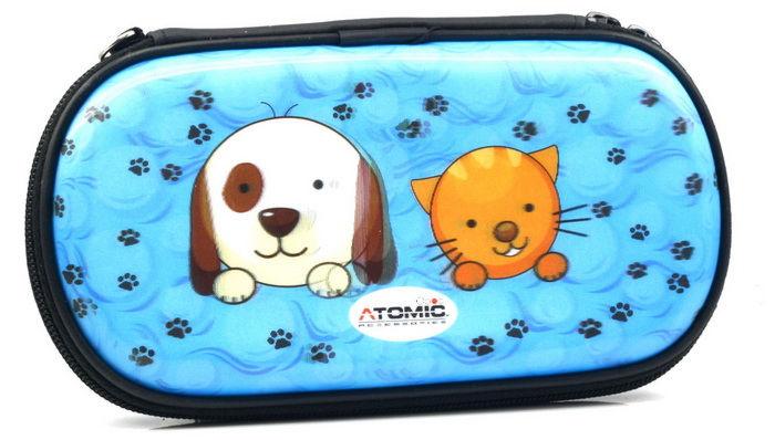 PSP Slim 3000 Сумка жёсткая 3D Dog & Cat Atomic (PA-085)