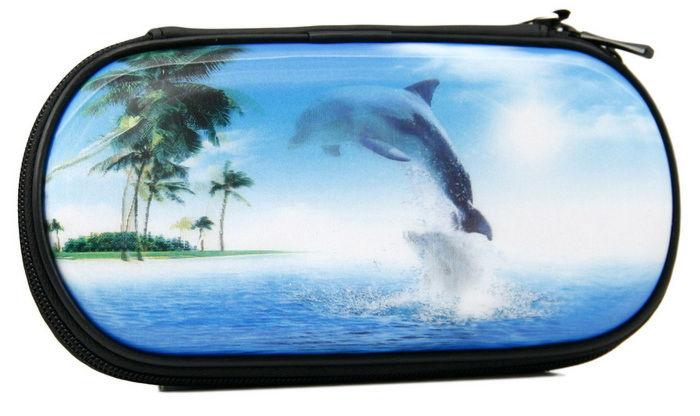 PSP Slim 3000 Сумка жёсткая 3D Dolphin (PA-093)