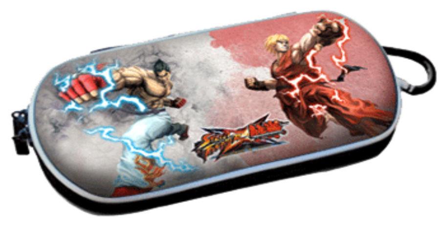 PSP Slim 3000 Сумка жёсткая 3D Street Fighter (PA-070)