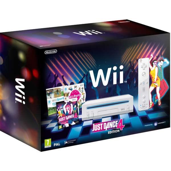 Nintendo Wii + игра Wii Party+ игра Wii Sports + игра Wii Just Dance 4 (белая)