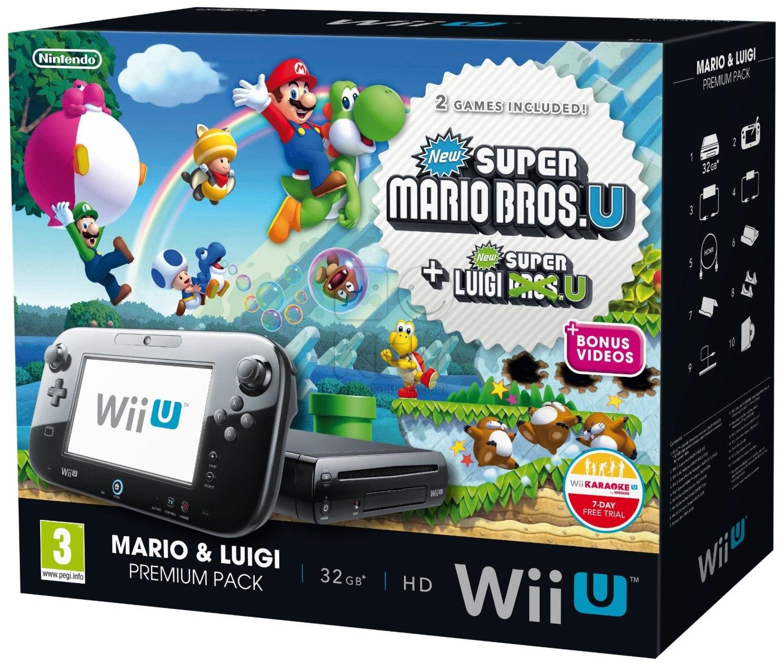 Nintendo Wii U Premium Pack + код Wii Karaoke U + игра Mario & Luigi (NIC-2300636)