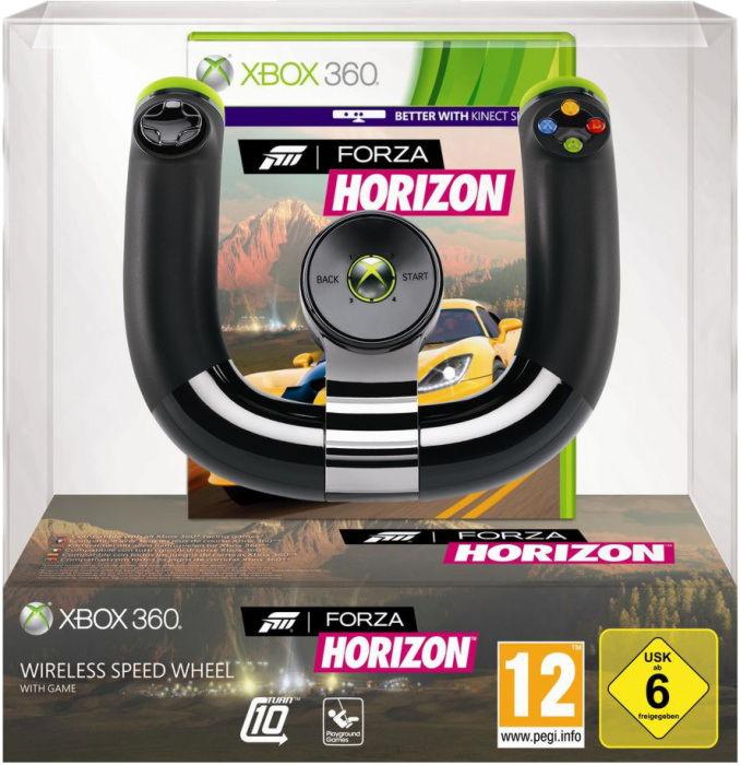 X-Box 360 Руль беспроводной Wireless Speed Wheel (2ZJ-00040) Microsoft + игра «Forza Horizon»