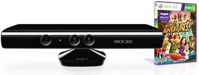 X-Box 360 Сенсор Kinect  + игра Kinect Adventures