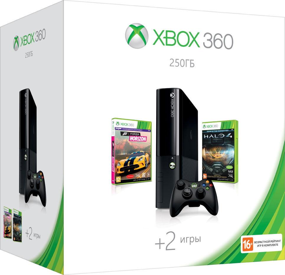 Xbox 360 E 250GB (N2V-00121) +»Forza Horizon»+»Halo 4 GOTY»