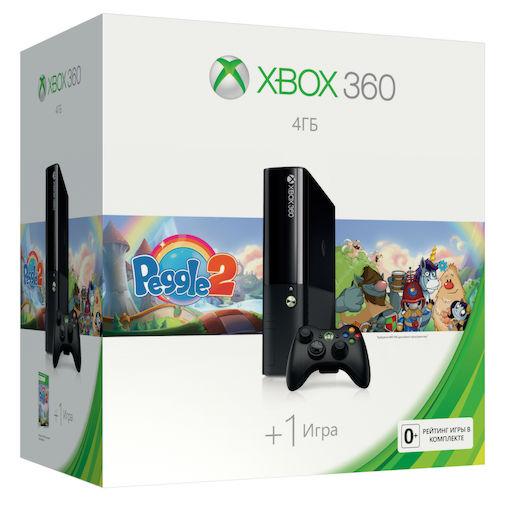 Xbox 360 E 4GB (L9V-00049) + «Peggle2»