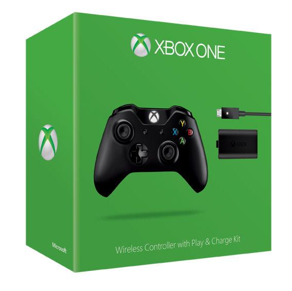 XboxOne Геймпад беспроводной с аккумулятором и кабелем зарядки (W2V-00011)