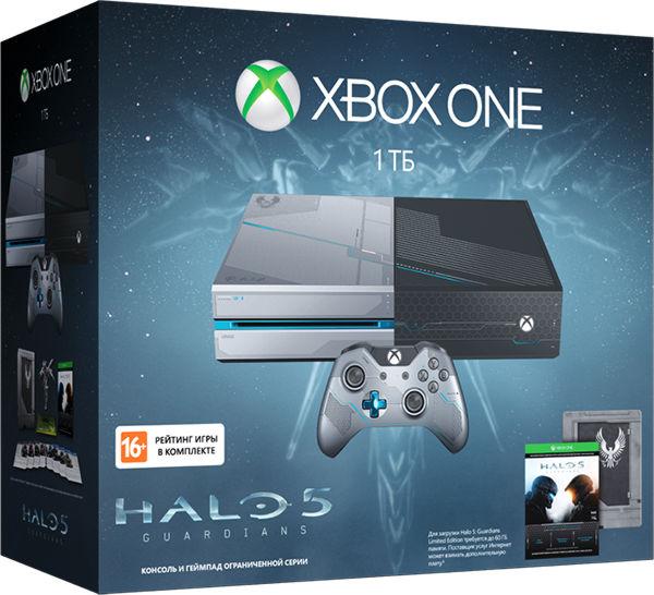Xbox One 1 TB (KF6-00012) + код Halo 5.  коллекционная раскраска.