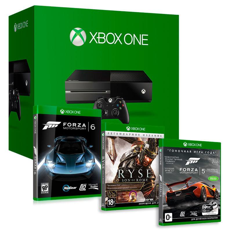 Xbox One 500GB (5C5-00015) + Ryse: Son of Rome LE + Forza 5+ Forza 6