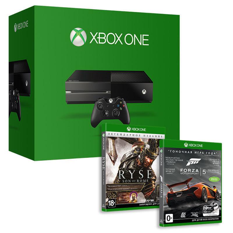 Xbox One 500GB (5C5-00015) + Ryse: Son of Rome LE + Forza 5+Пульт дистанционного управления(6DV-0000