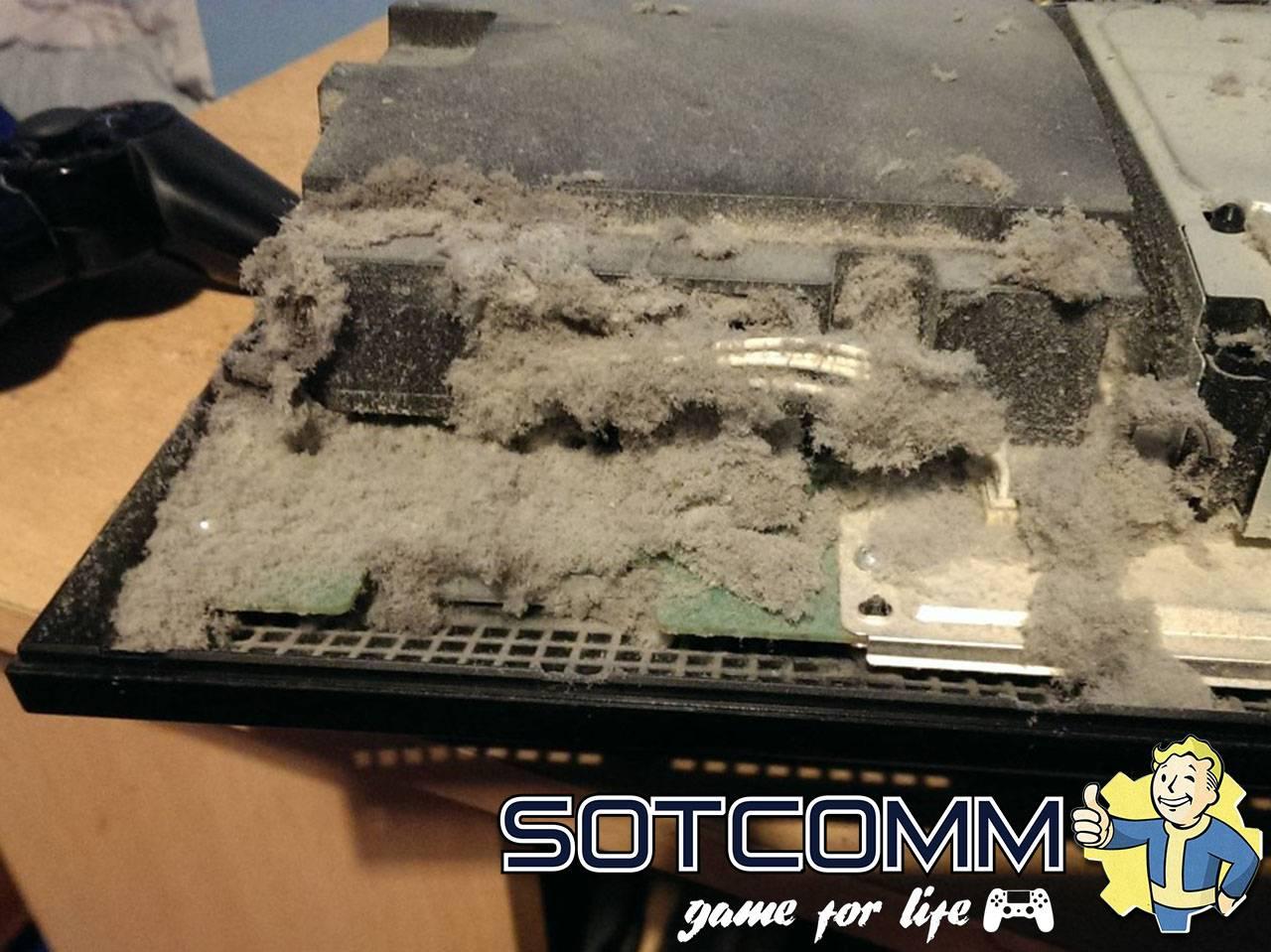 Чистка игровых приставок от пыли
