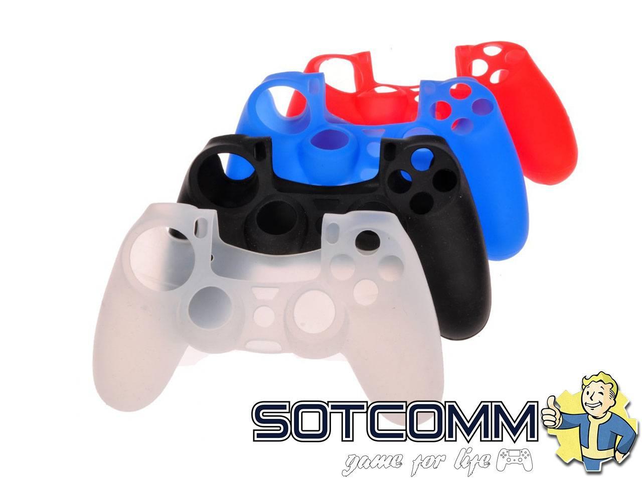 Мягкий силиконовый чехол для контроллера DualShock 4