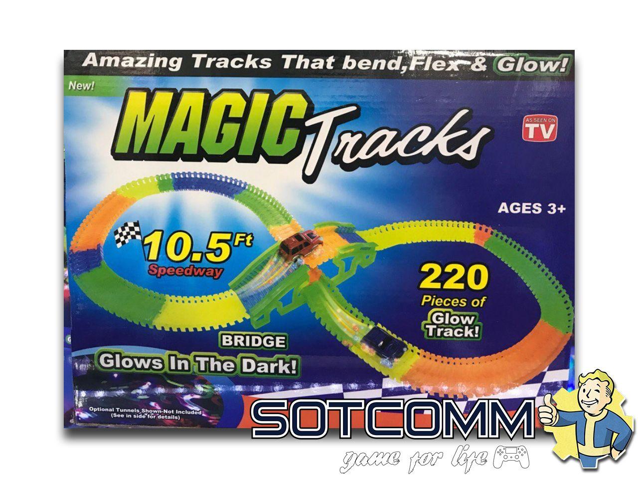 MAGIC TRACKS Мэджик трек 220 деталей с мостом ОПТОМ