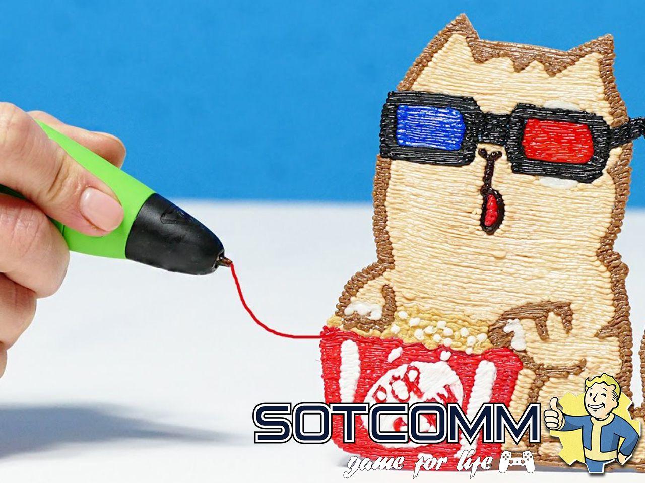 3D ручка 3DPen-2 с LCD дисплеем как рисовать