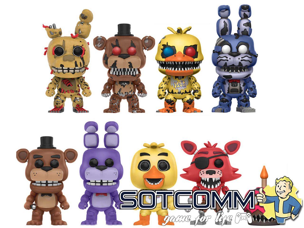 Фигурки Аниматроники Five Nights At Freddy's POP Games